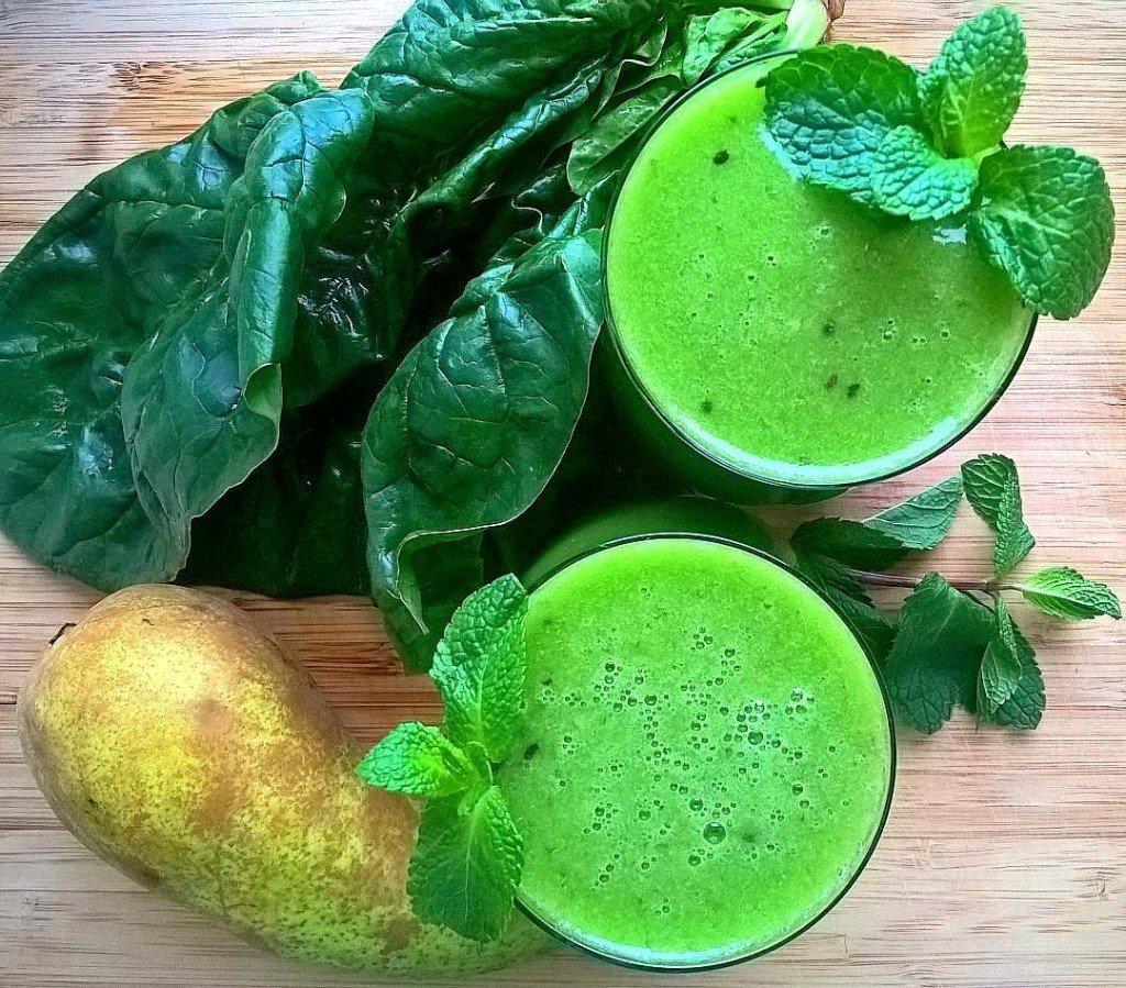 коктейль сыроедение напиток зелень шпинат